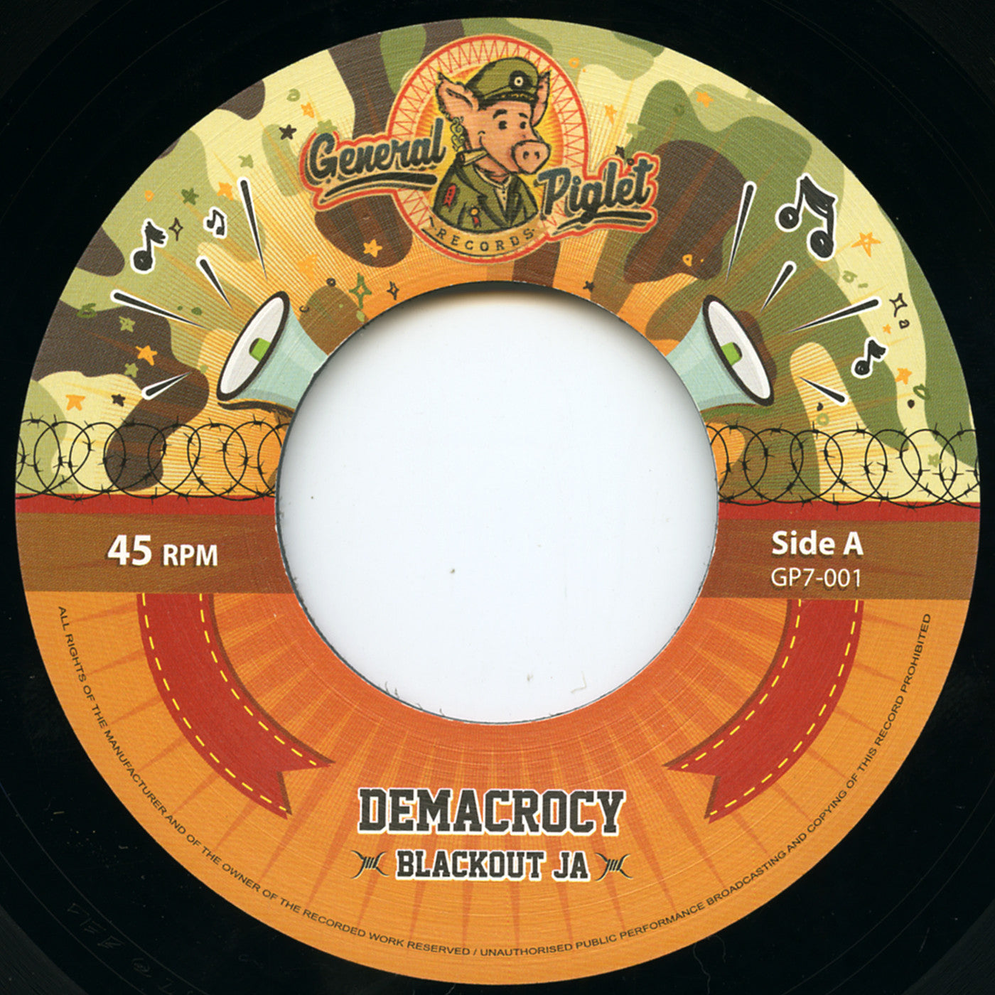 Blackout JA - Demacrocy // Dubsy - Demacrodub , Vinyl - General Piglet, Unearthed Sounds