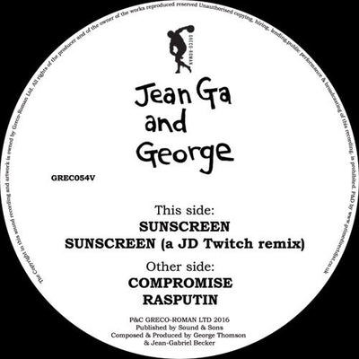 JeanGa & George - E.R.B , Vinyl - Greco-Roman, Unearthed Sounds
