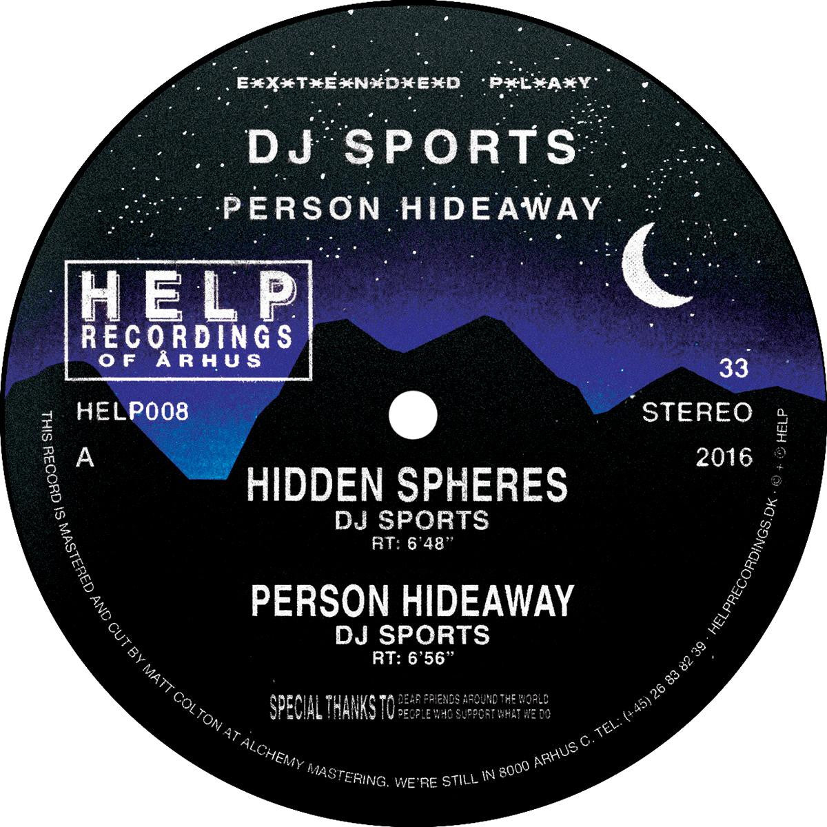 DJ Sports / SPCE - Person Hideaway , Vinyl - Help Recordings, Unearthed Sounds