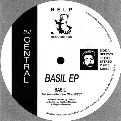 Central - Basil EP , Vinyl - Help Recordings, Unearthed Sounds