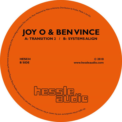 Joy O & Ben Vince - Transition 2 / Systems Align - Unearthed Sounds, Vinyl, Record Store, Vinyl Records