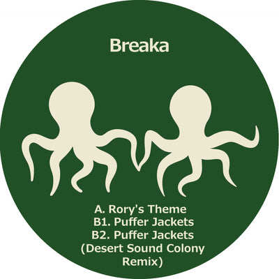 Breaka - Rory's Theme / Puffer Jackets [w/ Desert Sound Colony Remix][Repress] - Unearthed Sounds, Vinyl, Record Store, Vinyl Records
