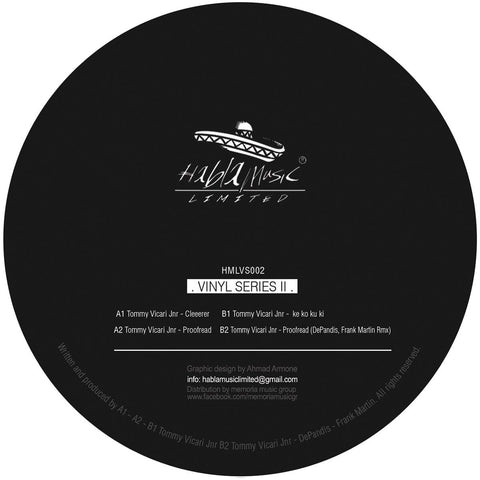 Tommy Vicari Jnr - VINYL SERIES 2 [180 grams]