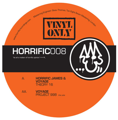Voyage & Horrific James - Theory 16 // Voyage - Project 998 - Unearthed Sounds, Vinyl, Record Store, Vinyl Records