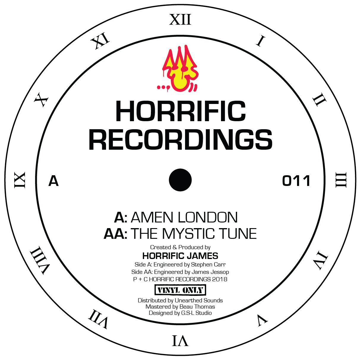Horrific James - Amen London / The Mystic Tune