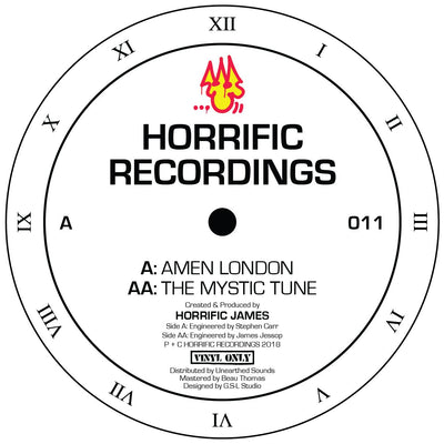 Horrific James - Amen London / The Mystic Tune - Unearthed Sounds