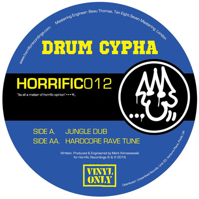 Drum Cypha - Jungle Dub / Hardcore Rave Tune - Unearthed Sounds, Vinyl, Record Store, Vinyl Records