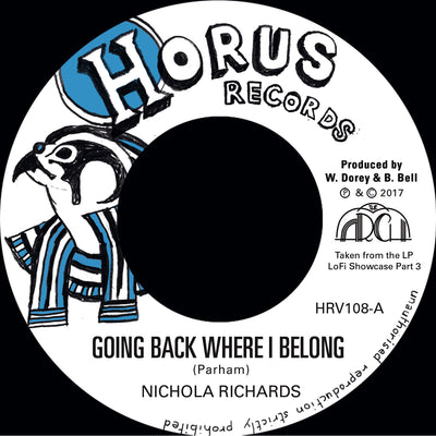 "Nichola Richards - Going Back Where I Belong / Version [7""] - Unearthed Sounds"