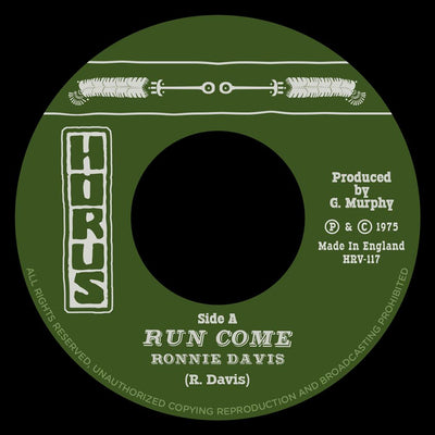 Ronnie Davis - Run Come - Unearthed Sounds