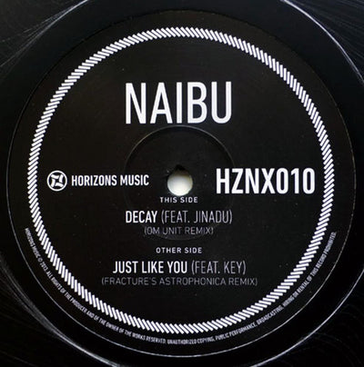 Naibu - Decay / Just Like You (Om Unit / Fracture Remix) [Grey Marbled Vinyl]