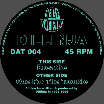 Dillinja ‎– Breathe / One For The Trouble - Unearthed Sounds