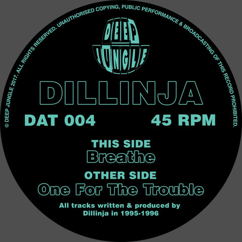 Dillinja ‎– Breathe / One For The Trouble