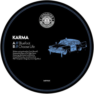 "Karma - Bluefoot / Choose Life [180g 12"" Vinyl] - Unearthed Sounds"