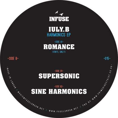 IULY.B - Harmonics EP , Vinyl - Infuse, Unearthed Sounds