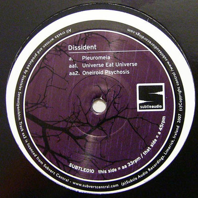 Dissident - Pleuromeia - Unearthed Sounds, Vinyl, Record Store, Vinyl Records