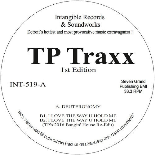 Terrence Parker - TP Traxx 1st Edition , Vinyl - Intangible Records & Soundworks, Unearthed Sounds