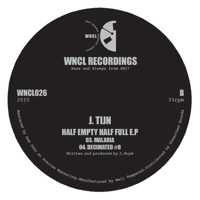 J. Tijn - Half Empty Half Full EP - Unearthed Sounds