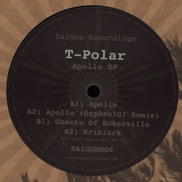 T-Polar ‎- Apollo EP - Unearthed Sounds