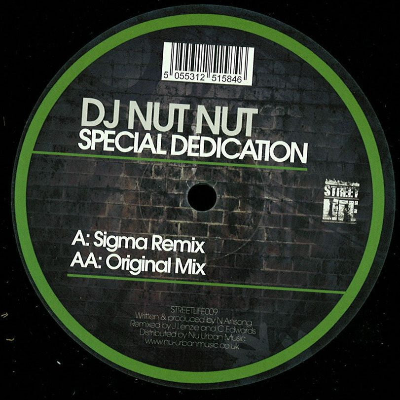 DJ Nut Nut - Special Dedication (Sigma Remix / Original Mix) - Unearthed Sounds