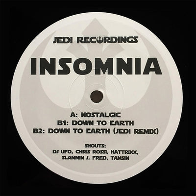 Insomnia - Nostalgic / Down To Earth [Repress limited to 100 copies] - Unearthed Sounds, Vinyl, Record Store, Vinyl Records