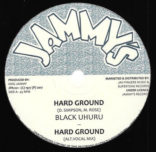 Black Uhuru ‎– Hard Ground