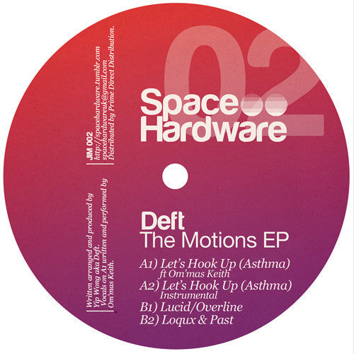 Deft - The Motions EP , Vinyl - Space Hardware, Unearthed Sounds