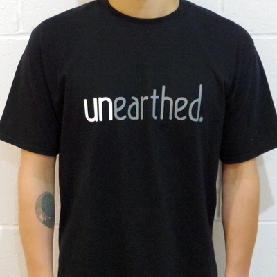 Unearthed Logo Black T-Shirt - Unearthed Sounds