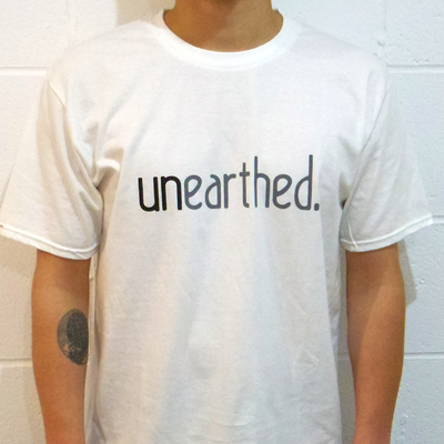 Unearthed Logo White T-Shirt - Unearthed Sounds