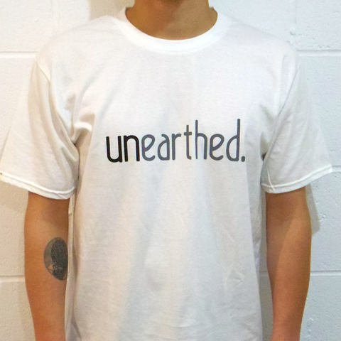 Unearthed Logo White T-Shirt