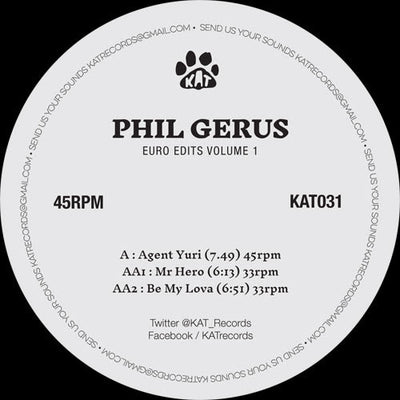 Phil Gerus - Euro Edits Volume 1 - Unearthed Sounds, Vinyl, Record Store, Vinyl Records