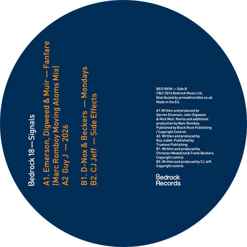 Various Artists - Bedrock 18 - Signals , Vinyl - Bedrock, Unearthed Sounds - 1