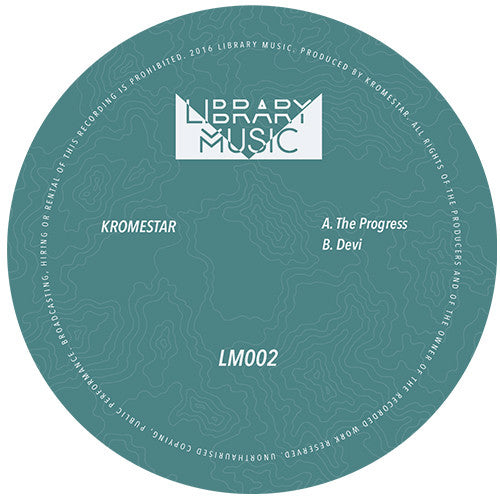 Kromestar - The Progress // Devi , Vinyl - Library Music, Unearthed Sounds