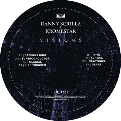 "Danny Scrilla & Kromestar - Visions [12"" LP] - Unearthed Sounds"