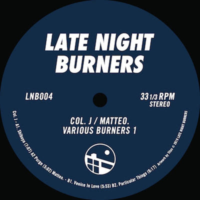 Col. J / Matteo. - Various Burners Vol. 1 EP - Unearthed Sounds, Vinyl, Record Store, Vinyl Records