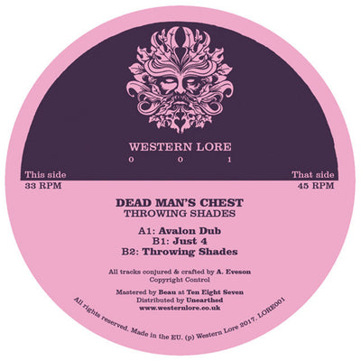 Dead Man's Chest - Throwing Shades EP [Plain Sleeve Repress] - Unearthed Sounds
