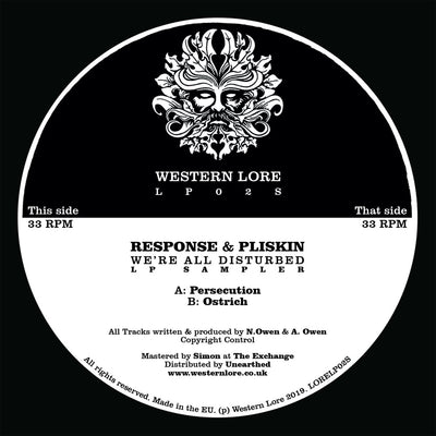Response & Pliskin - We're All Disturbed [LP Sampler] - Unearthed Sounds