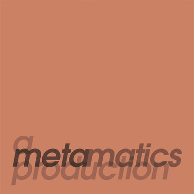 "Metamatics - A Metamatics Production [2 x Silver 'blob' in Yellow 12"" Vinyl + Insert Print] - Unearthed Sounds"