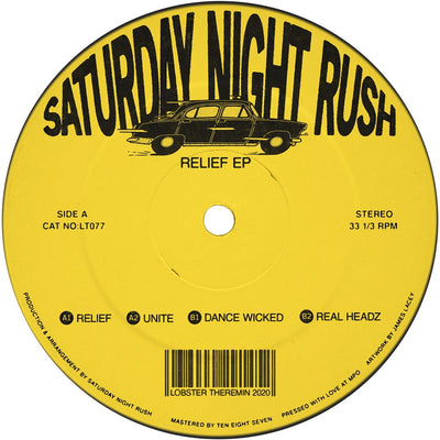 Saturday Night Rush - Relief EP - Unearthed Sounds