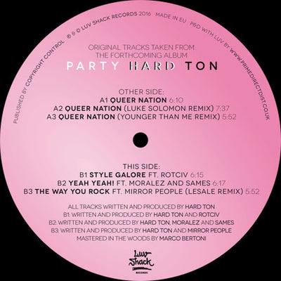 Hard Ton - Queer Nation EP , Vinyl - Luv Shack Recordings, Unearthed Sounds