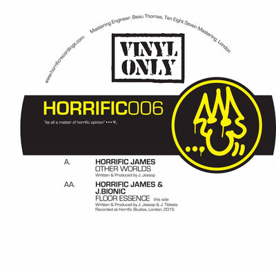 Horrific James & J.Bionic - Other Worlds / Floor Essence - Unearthed Sounds, Vinyl, Record Store, Vinyl Records