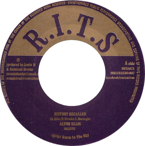 Alton Ellis / Gregory Isaacs ‎– History Recalled / Hunger For Your Love