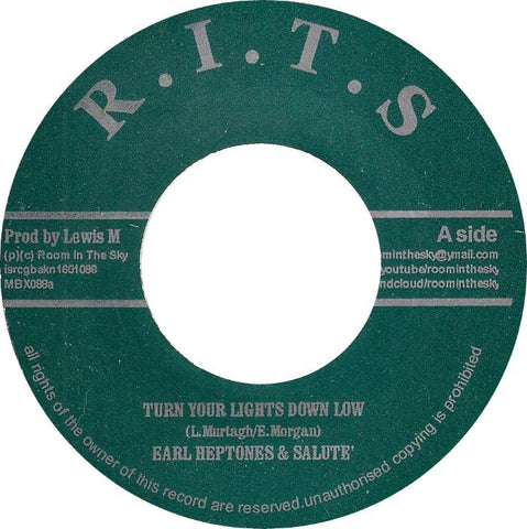 Earl Heptones And Salute ‎– Turn Your Lights Down Low