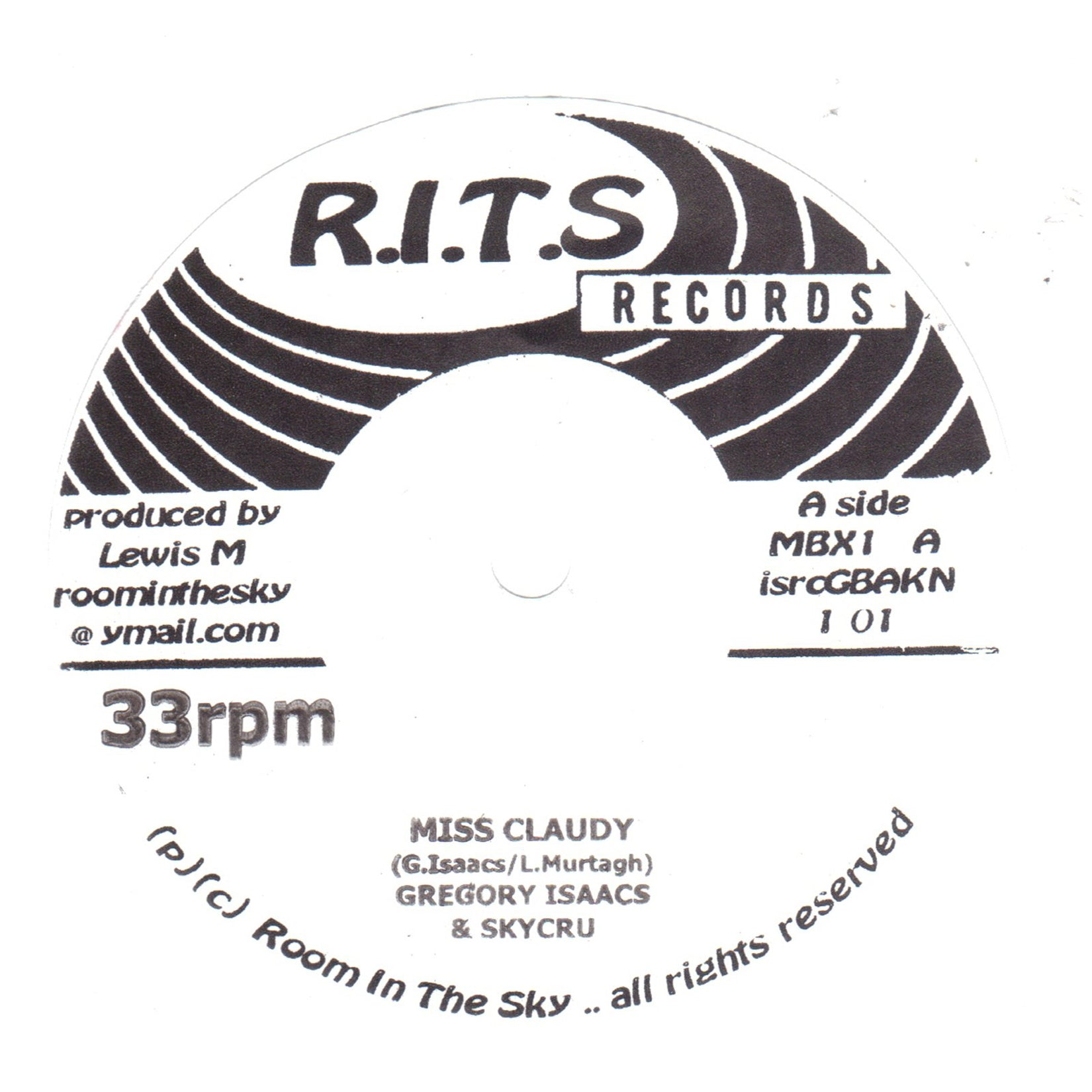 "Gregory Isaacs / Anthony Que - Miss Claudy [7"" Vinyl]"