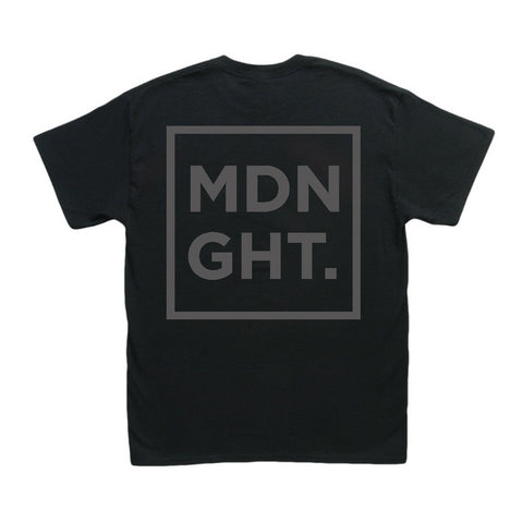 MDNGHT T-Shirt (Black Print on Black Tee)