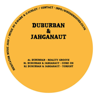 Duburban & Jahganaut - Reality Groove / Come On / Tonight - Unearthed Sounds, Vinyl, Record Store, Vinyl Records