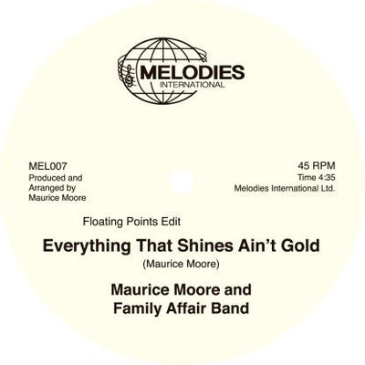 Maurice Moore And Family Affair Band - Everything That Shines Ain't Gold (incl. Floating Points Edit) - Unearthed Sounds, Vinyl, Record Store, Vinyl Records