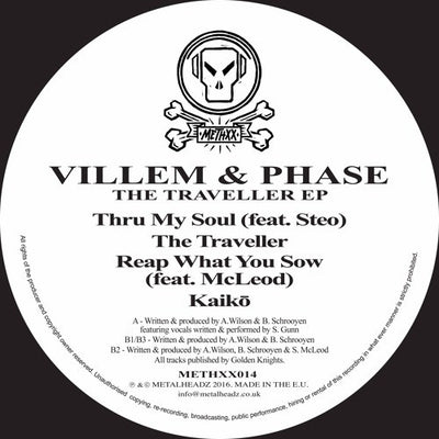 Villem & Phase - The Traveller EP , Vinyl - Metalheadz, Unearthed Sounds