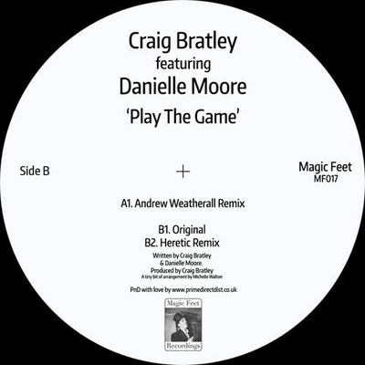 Craig Bratley featuring Danielle Moore - Play The Game - Unearthed Sounds