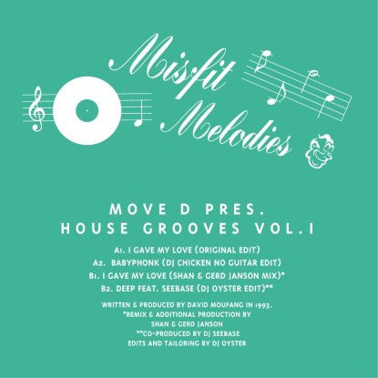 Move D. - Presents House Grooves Vol. 1 | Gerd Janson & Shan Edit , Vinyl - Misfit Melodies, Unearthed Sounds