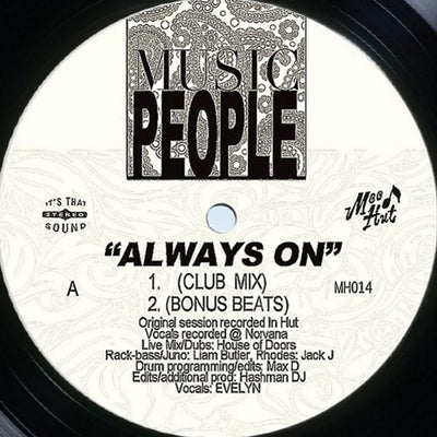 Music People - Always On , Vinyl - Mood Hut, Unearthed Sounds